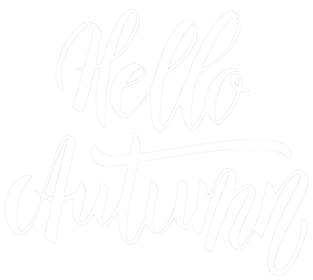 hello autumn Schrift in Weiss | CK Voice Lessons