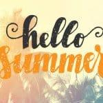Gutschein Gesangsunterricht Hello Summer Hintergrund mit Überschrift