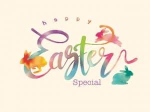 Happy Easter Special Watercolor Grafik