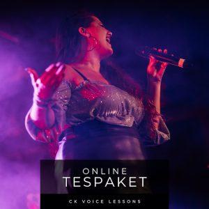Online Testpaket für Gesangsunterricht